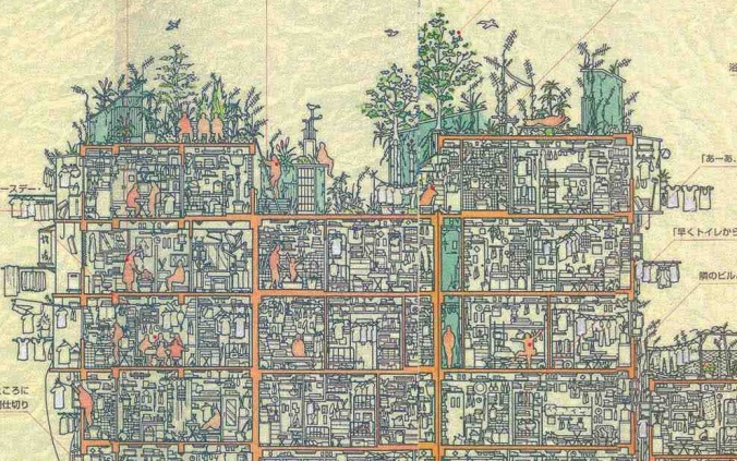 Detailed Cross-section of the Kowloon Walled City