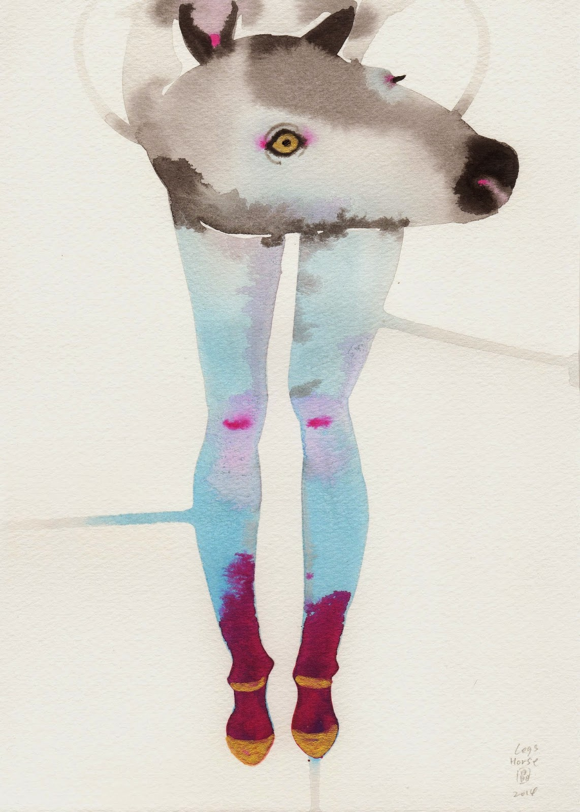 animal legs watercolors by Akiko Kobayakawa