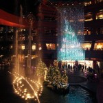 teamlab crystal tree at canal city