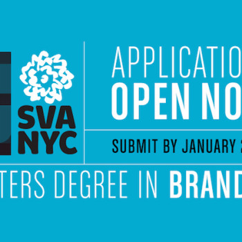 Sponsor // Apply Now For the Masters Degree in Branding at the School of Visual Arts