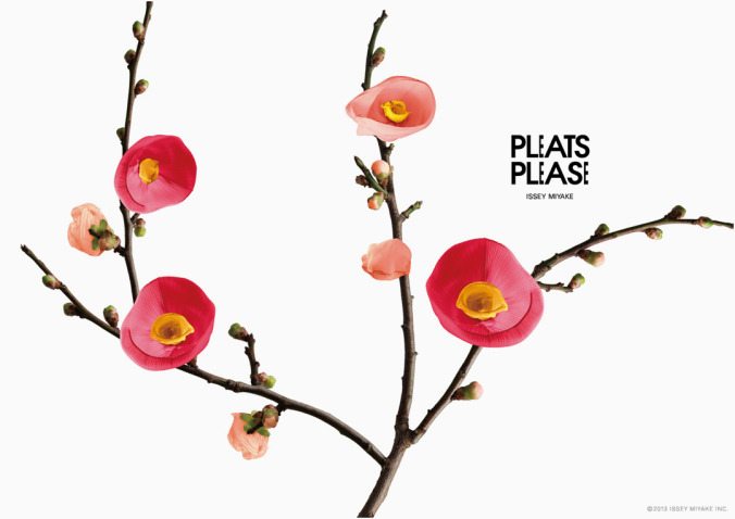 pleats please flowers by taku satoh