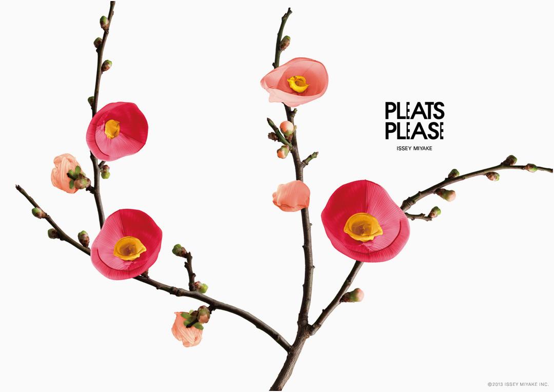 pleats please flowers by taku satoh