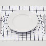 trick mat optical illusion placemat