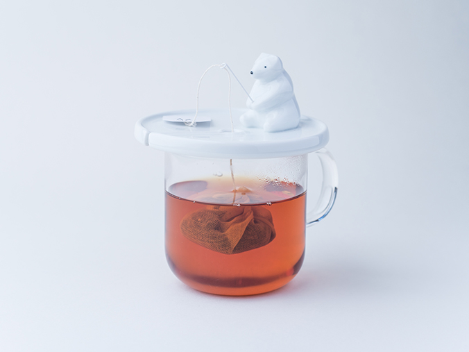 shirokuma tea bag holder