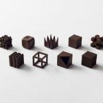chocolatexture by nendo chocolates that represent texture
