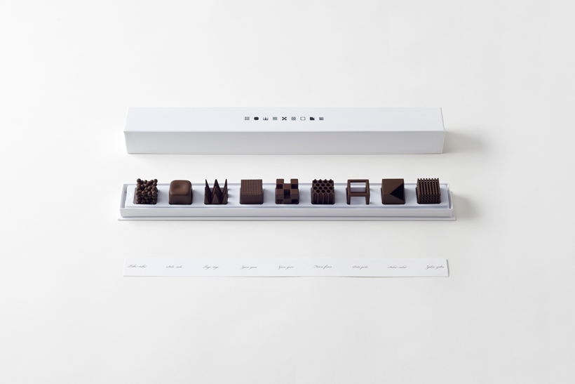 chocolatexture by nendo chocolates that represent texture