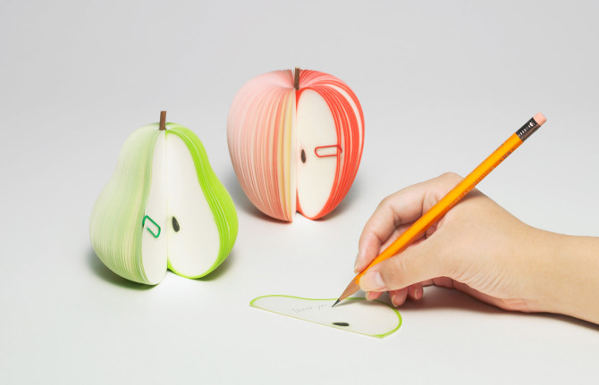 kudamemo fruit note pad