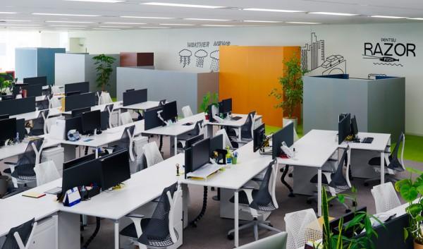 dentsu razorfish office in east ginza
