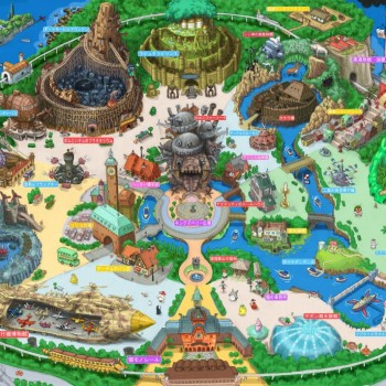 Hypothetical Tokyo Ghibli Land Created by Japanese Illustrator TAKUMI