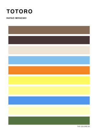 ghibli film color palette