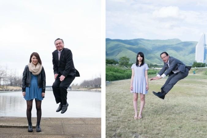jumping salarymen