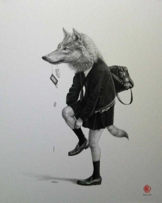 Schoolgirl Animals by Takumi Kama