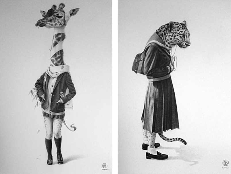 Schoolgirl Animals by Takumi Kama