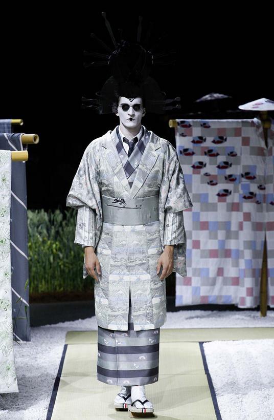 thom browne geisha inspired 2016 menswear