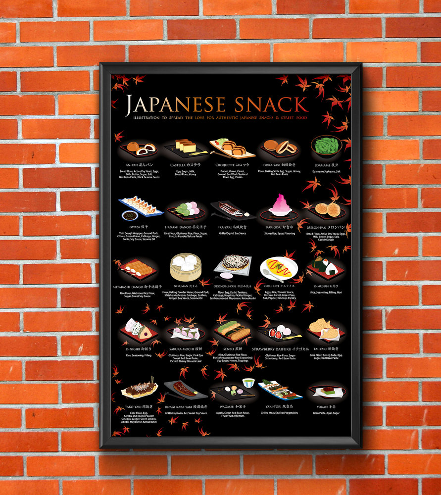 japanese snacks poster 2