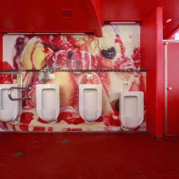 Melting Dream: A Public Toilet Made to Look Like a Mountain of Dessert
