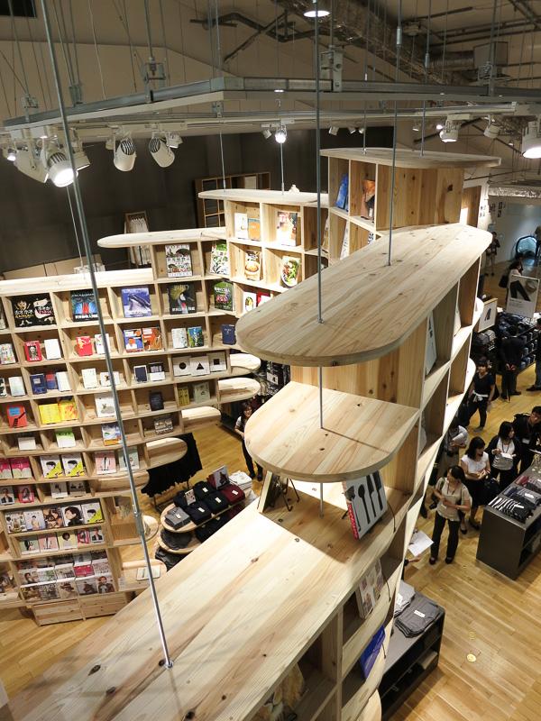 10 000 Books Line A Bookshelf That Traverses The New Muji