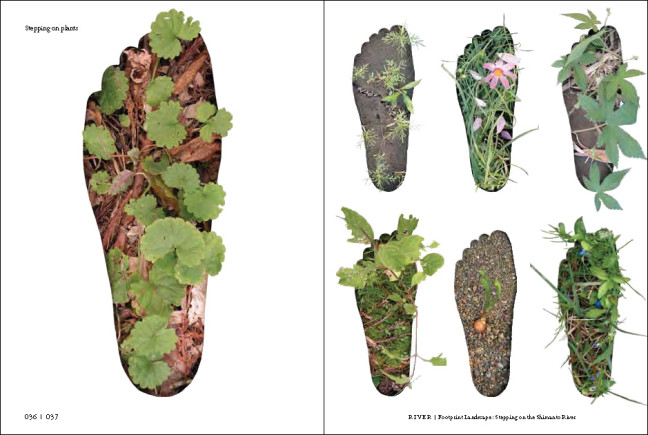 'Stepping on plants' by Kyoko Nakamura, Kazuko Nomoto and Kaori Hashimoto, in the 1st Ex-formation theme, 'River'.