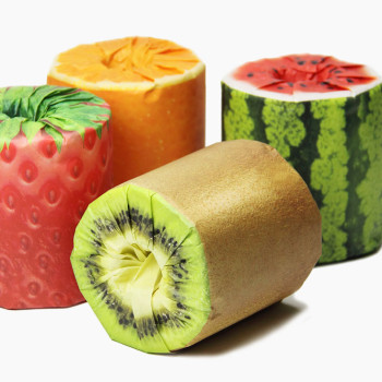 Fruit Toilet Paper by Kazuaki Kawahara