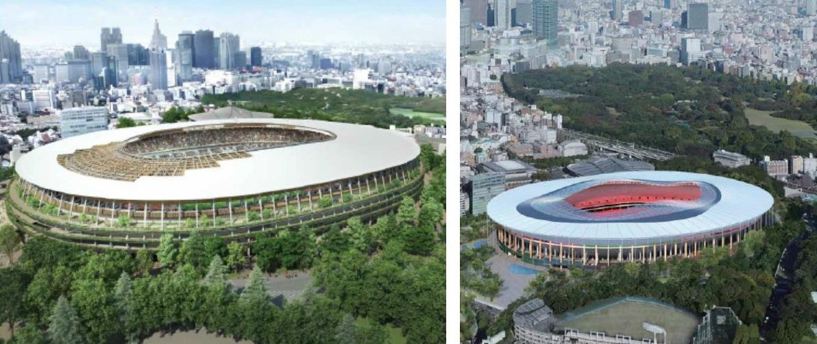 Japan Stadium Proposal A and B