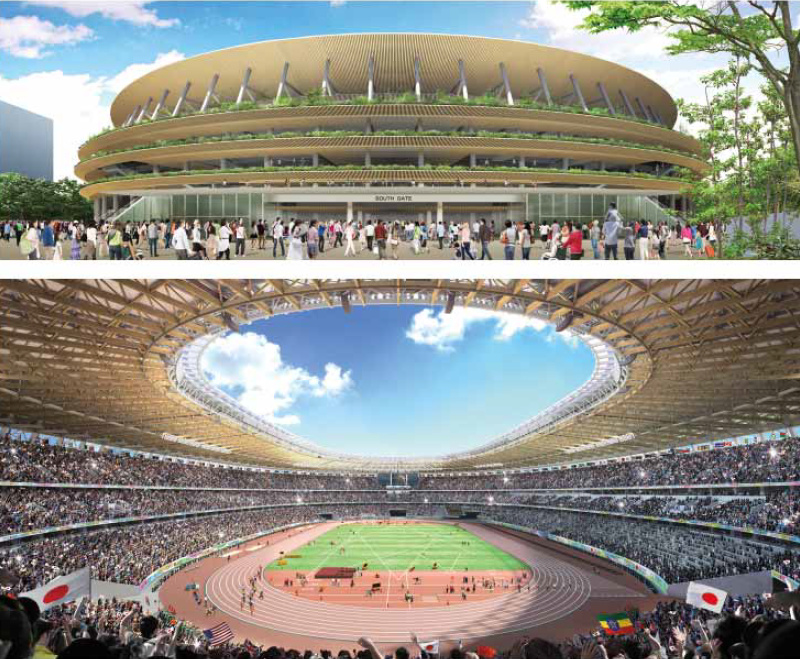 Japan Stadium Proposal A - interior-exterior