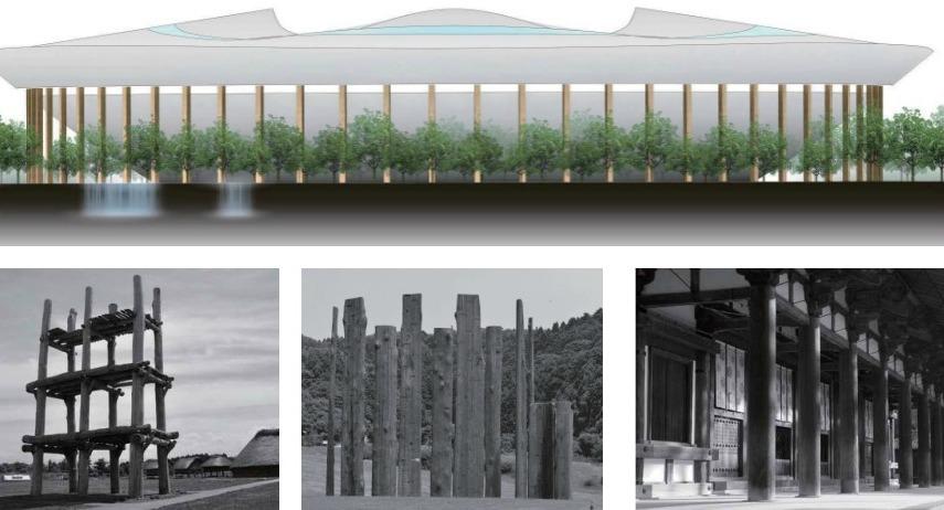Japan Stadium Proposal B - jomon architecture
