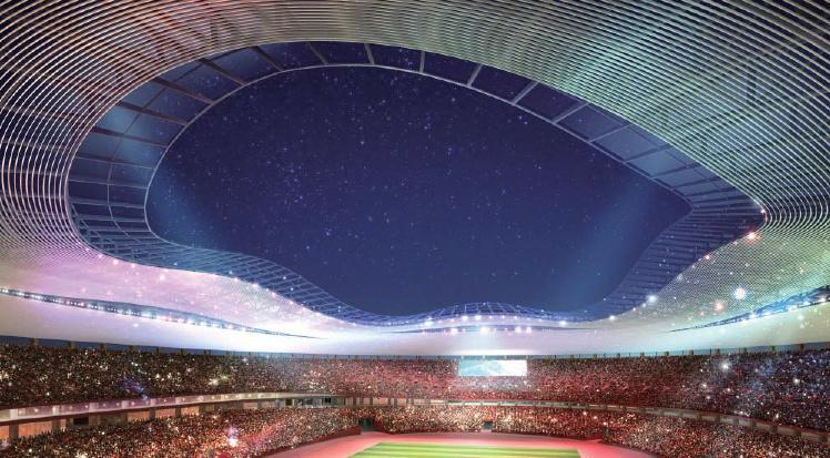 Japan Stadium Proposal B - night