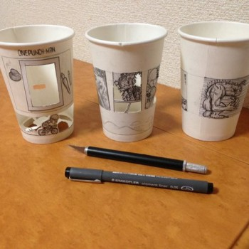 Japanese Artist Turns Paper Cups, Food and Cigarette Ash Into Playful Works of Art