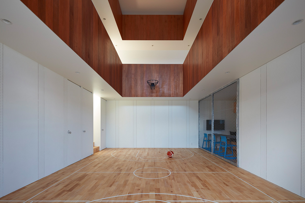 Court house a home with an indoor basketball gym spoon Indoor basketball court ceiling height