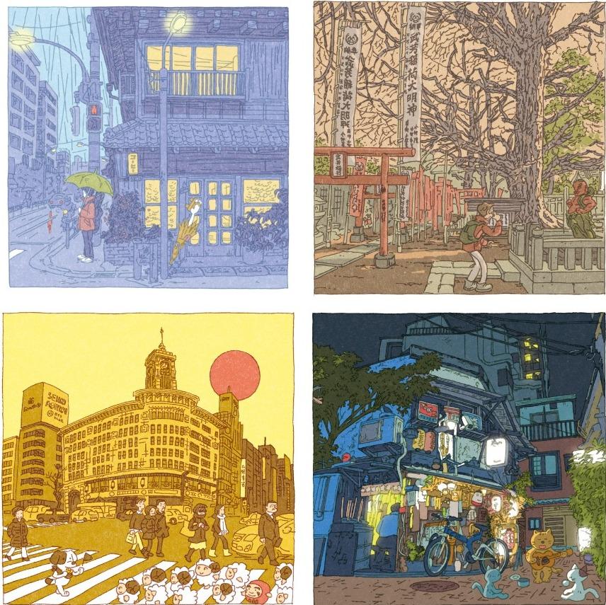 100 views of Tokyo by Shinji Tsuchimochi (collage 1)