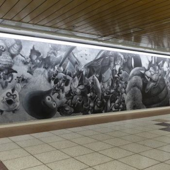 World's Largest Chalkboard Mural Appears in Shinjuku Station