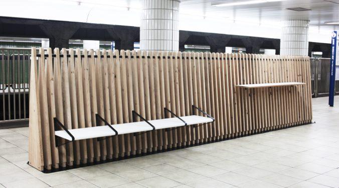 Tokyo Metro Bench Work Stations by Nikken Design Lab (1)