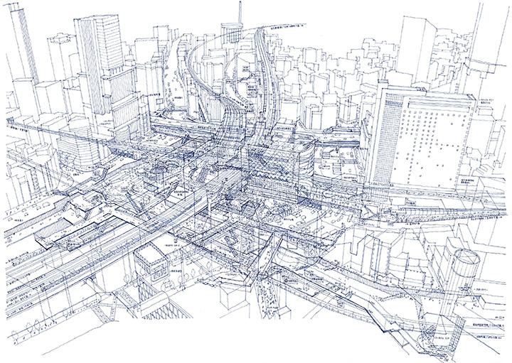 tomoyuki tanaka rendering shibuya