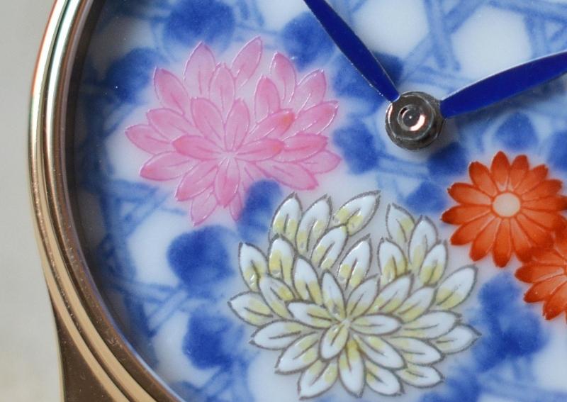 arita-yaki wristwatch (detail)