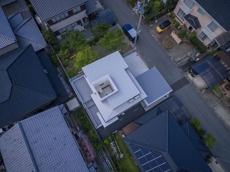 puddle house from above