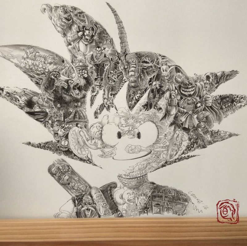 Detailed Dragonball Fan Art Created By Ah Leung Spoon Amp Tamago