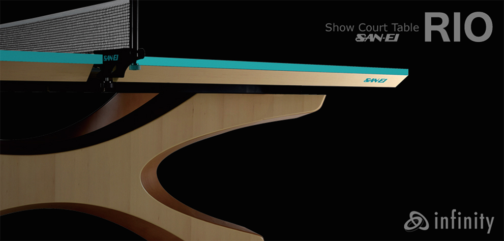 Rio 2016 olympic infinity ping pong tables designed by - Butterfly table tennis official website ...