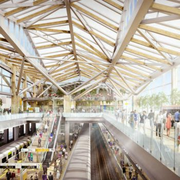 Kengo Kuma's Origami-Inspired Vision for Shinagawa Station
