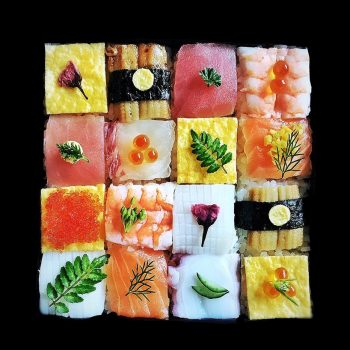 Beautiful, Edible Compositions of Mosaic Sushi