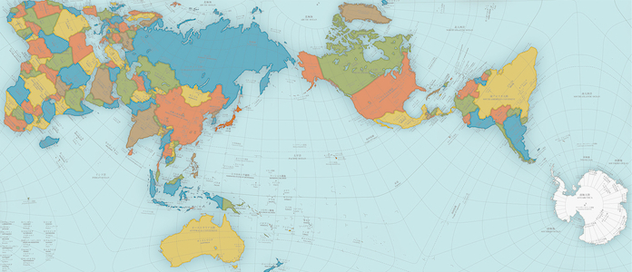 This Map of the World Just Won Japan's Prestigious Design Award