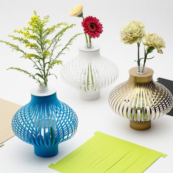 Paper Vases Inspired by Squid Sashimi