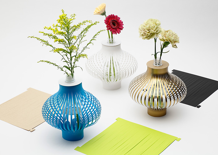 Paper Vases Inspired By Squid Sashimi Spoon Tamago