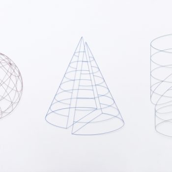 Minimal Wire Sculptures That Form 3-Dimensional Shapes by Mitsuru Koga