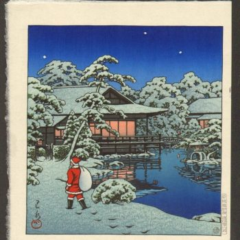 The Wintry Elegance of Hasui Kawase's Woodblock Prints