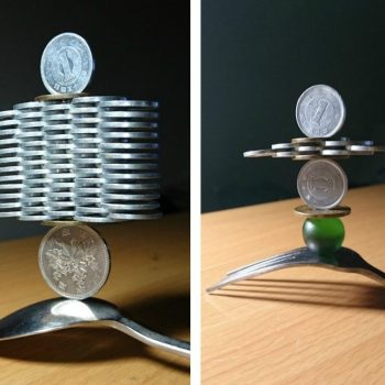 Gravity-Defying Stacked Coin Sculptures by Shunsuke Tani