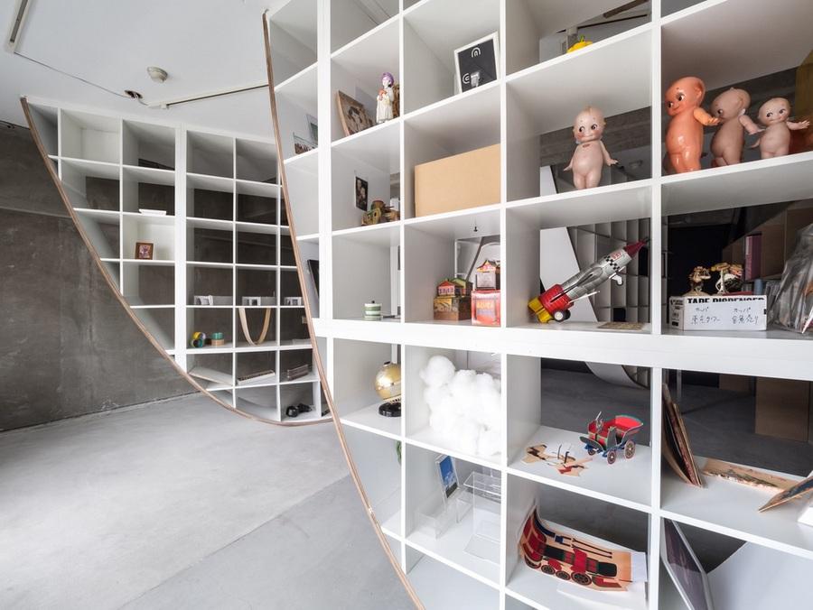 Japanese Designer Hacks IKEA Shelf To Create Floor To Ceiling Parabolic  Shelving