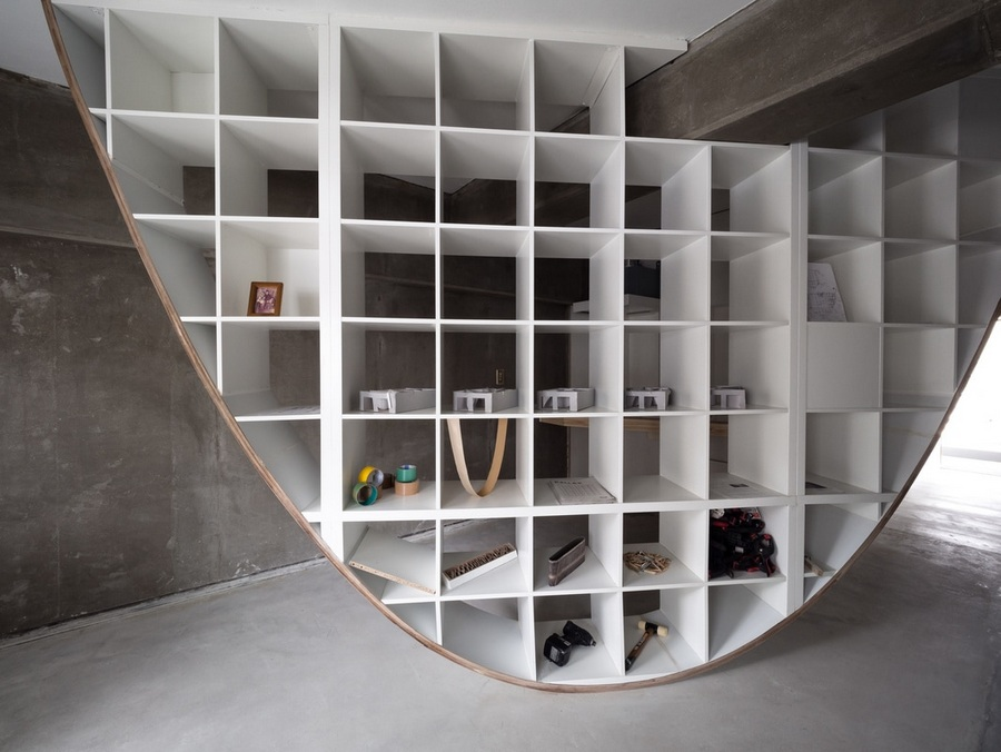 Japanese Designer Hacks Ikea Shelf To Create Floor To