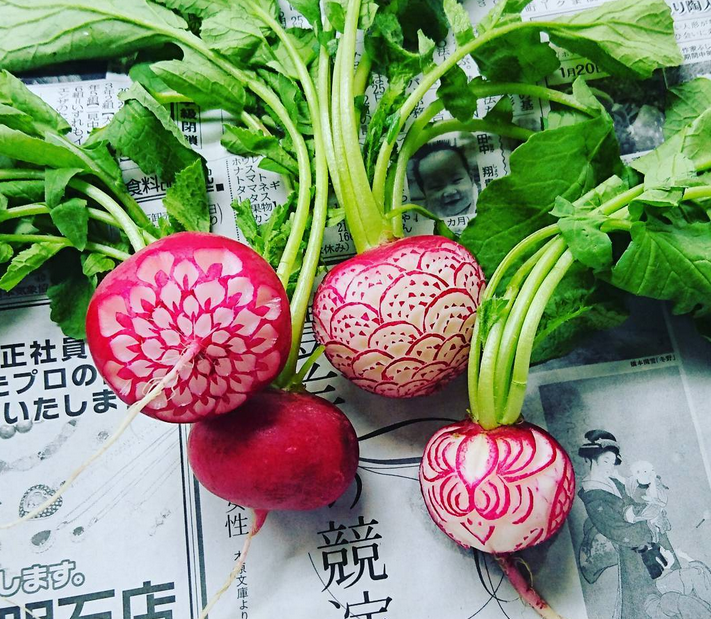 Intricate Fruit & Vegetable Carvings by Japanese Artist Gaku ...