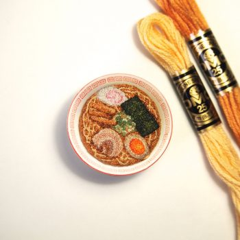 Miniture Embroidered Foods by Japanese Artist ipnot