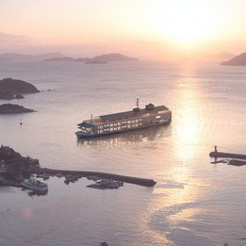 Guntu: a new floating hotel that will travel Japan's inland sea